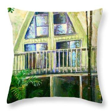 Presley House Throw Pillow by Lou Ann Bagnall