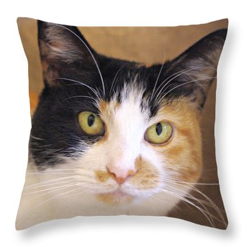 Pretty Girl Throw Pillow by Marilyn Wilson