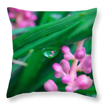 Pretty In Pink  Throw Pillow by Peggy  Franz