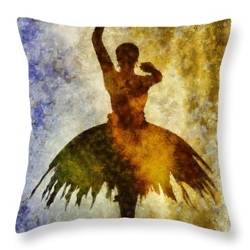 Prima 1 Throw Pillow by Angelina Vick