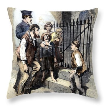 Prison: The Tombs, 1868 Throw Pillow by Granger