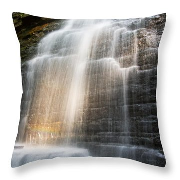 Promise Falls Throw Pillow by Debra and Dave Vanderlaan