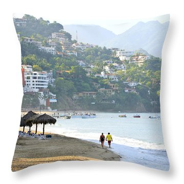 Puerto Vallarta Beach Throw Pillow by Elena Elisseeva