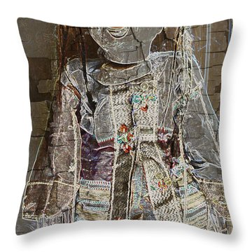 Puppet Fantasy Throw Pillow by Mick Anderson