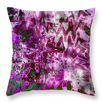 Purple Abstract Throw Pillow by Carol Groenen