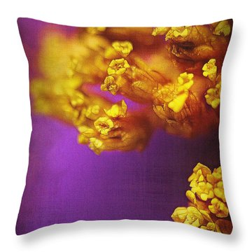 Purple And Gold 2 Throw Pillow by Judi Bagwell