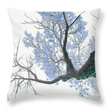 Purple Tree 1 Throw Pillow by Rebecca Margraf