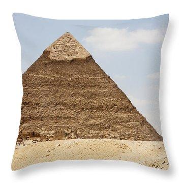 Pyramid Of Khafre Chephren, Giza, Al Throw Pillow by Peter Langer
