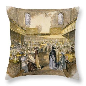 Quaker Meeting, 1843 Throw Pillow by Granger