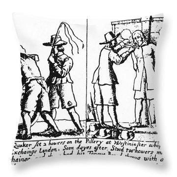 Quaker Persecution Throw Pillow by Granger