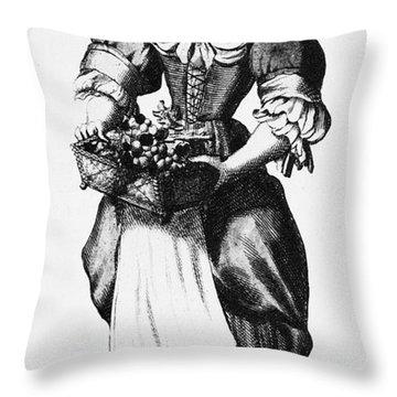 Quaker Woman, 17th Century Throw Pillow by Granger
