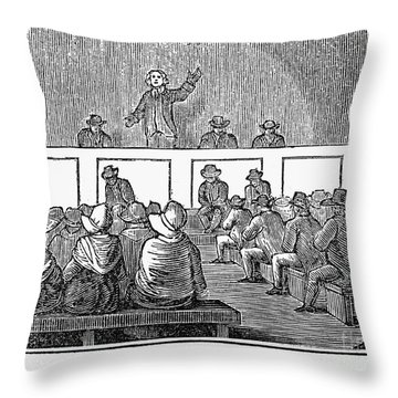 Quaker Worship, 1842 Throw Pillow by Granger