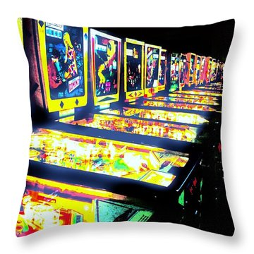 Quarters Needed Throw Pillow by Benjamin Yeager