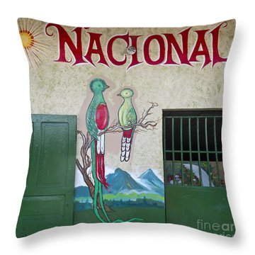 Quetzal Painting  Throw Pillow by Heiko Koehrer-Wagner