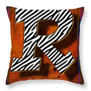 R Throw Pillow by Mauro Celotti