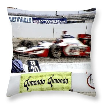 Racing Throw Pillow by Donna Blackhall