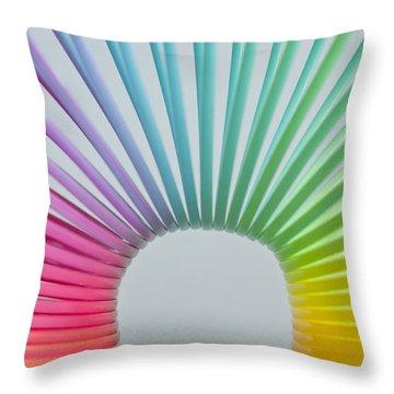 Rainbow 2 Throw Pillow by Steve Purnell