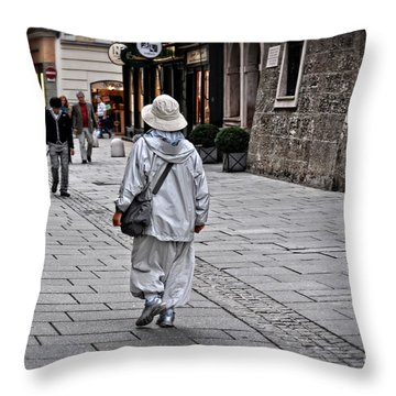 Rainwear In Salzburg Throw Pillow by Mary Machare