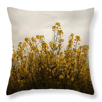 Rapes Field Throw Pillow by Svetlana Sewell