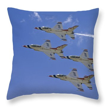 Rare Usaf Thunderbirds Diamond Pass Throw Pillow by Tim Mulina