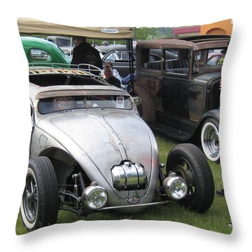 Rat Rod Many Parts Throw Pillow by Kym Backland