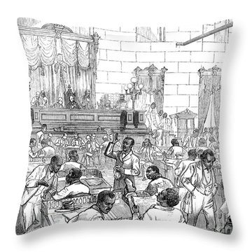 Reconstruction, 1876 Throw Pillow by Granger