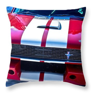 Red 1966 Mustang Shelby Throw Pillow by James BO  Insogna
