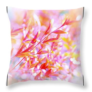 Red And Yellow Leaves Throw Pillow by Judi Bagwell