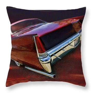 Red Cadillac Throw Pillow by Blake Richards