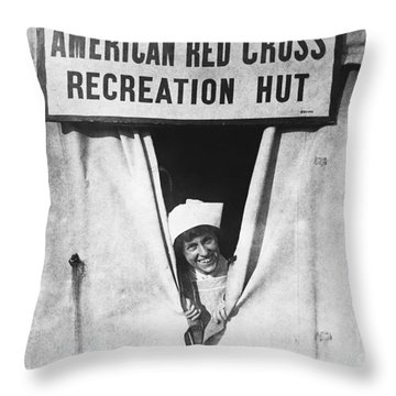 Red Cross Nurse, 1918 Throw Pillow by Photo Researchers