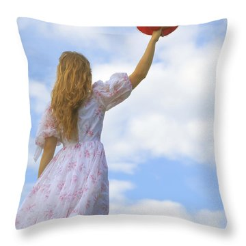 Red Hat Throw Pillow by Joana Kruse