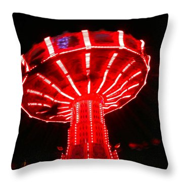 Red Ride Is Wild Throw Pillow by Kym Backland