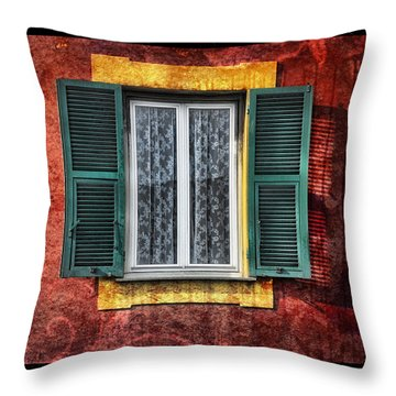Red Wall Throw Pillow by Mauro Celotti