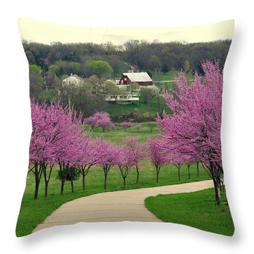 Redbud Throw Pillow by Marty Koch