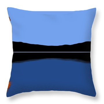 Reflection Throw Pillow by George Pedro