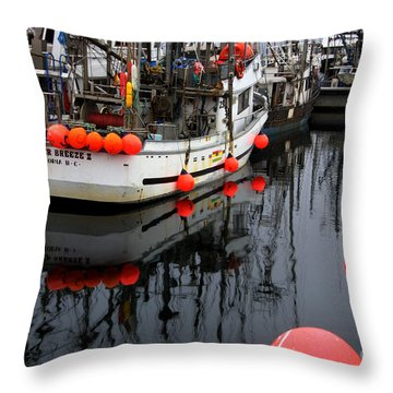 Reflections At French Creek Throw Pillow by Bob Christopher