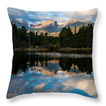 Reflections On A Lake Throw Pillow by Anne Rodkin