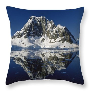 Reflections With Ice Throw Pillow by Antarctica