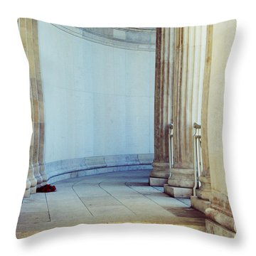 Remembrance Day Throw Pillow by Georgia Fowler