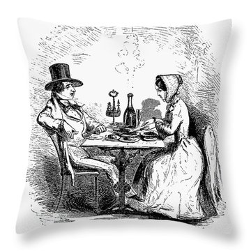 Restaurant, 19th Century Throw Pillow by Granger