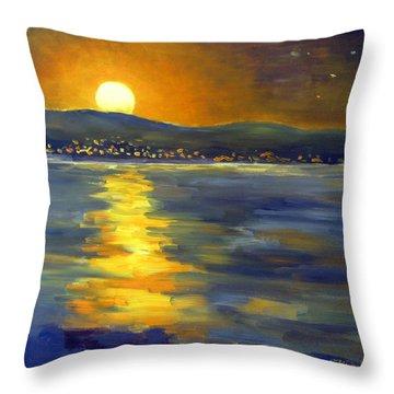 Return Of The Light Throw Pillow by Karin  Leonard