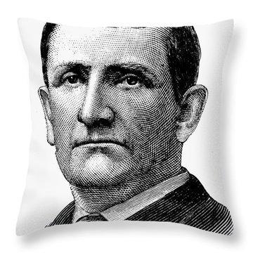 Richard Henry Pratt Throw Pillow by Granger