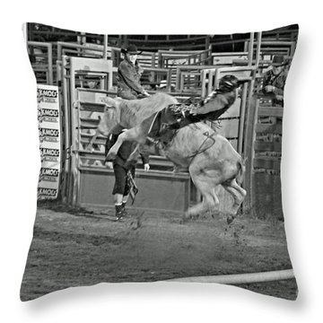 Ride 'em Cowboy Throw Pillow by Shawn Naranjo