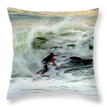 Riding In Beauty Throw Pillow by Karen Wiles