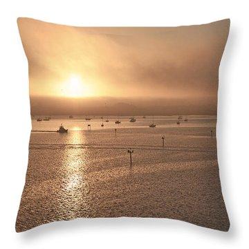 Ringling Bridge Morning Throw Pillow by Betsy Knapp