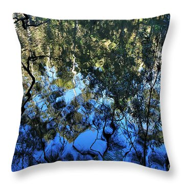 Ripples And Reflections Throw Pillow by Kaye Menner