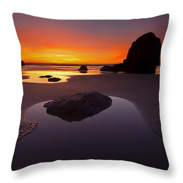 Ripples And Reflections Throw Pillow by Mike  Dawson