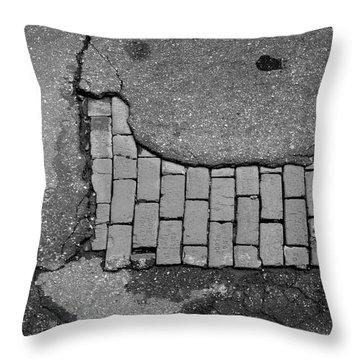 Road Textures Throw Pillow by Mike McGlothlen