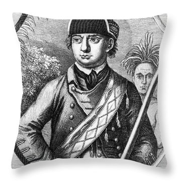 Robert Rogers, Colonial American Throw Pillow by Photo Researchers