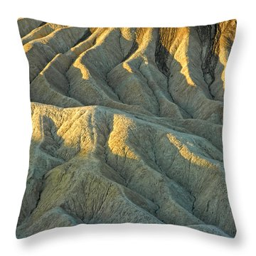 Rock Formations At Death Valley Throw Pillow by Dave Mills